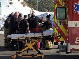 paramedics secure a construction worker before transport after he fell 15 feet onto rebar credit rebar worker