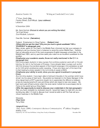 Unsolicited Application Cover Letter Sample Of Examples Resume 1