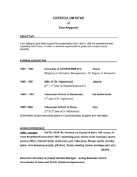 good objective line for resumes | Template good objective line for resumes