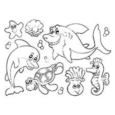 Small Picture Underwater Animals Coloring Pages FunyColoring