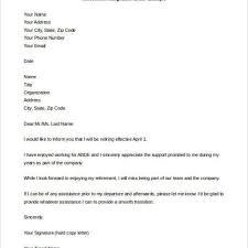 Retirement Letter Resignation Letter Samples For Retirement Bahamas Schools With