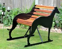 unique garden furniture. Hand-Crafted Greyhound,Whippet, Lurcher Garden Bench - Unique Furniture Birthday