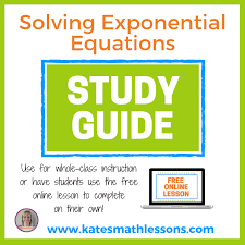 solving exponential equations kate s