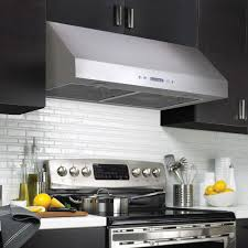 Kitchen Designed For Easy Cleaning With Under Cabinet Range Hood - Kitchen hood exhaust fan
