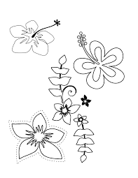 Small Picture hawaiian flowers coloring pages Archives Best Coloring Page