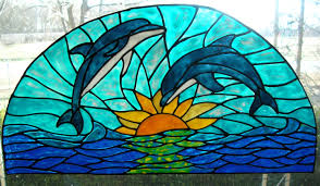 image of best stained glass window cling style