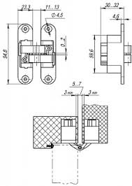 Дверная <b>петля скрытой</b> установки Armadillo мод. Architect <b>3D</b> ...