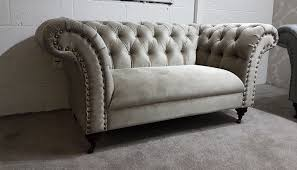 fabric chesterfield sofa. Beautiful Fabric URGENT Fabric Chesterfield Sofa 2 X 2 Seater Set In Putty Grey Intended F