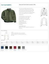 Crossland Fleece Jacket Size Chart Crossland Soft Shell Jacket Size Chart Custom Logo