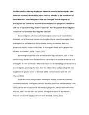 cmrj criminal profiling american public university  2 pages cmrj329 midterm q1