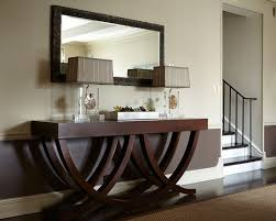 hallway table and mirror. furniture, cool modern hall with brown mahogany wood extra long console table also twin elegant lights unique mirror frame texture hallway and e
