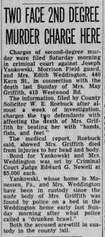 Re Mae Griffith Murder: Sunday November 11, 1945 - Newspapers.com