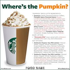 where s the pumpkin fb sbpumpkineingreents 3 after reading the ings in the pumpkin e latte