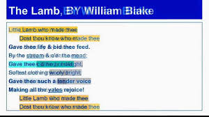 analysis on the lamb by william blake