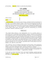 Tort Claim Notice Lawyer Information Portal Letter Sample