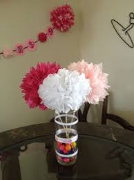 Tissue Paper Flower Centerpieces Tissue Pompoms Centerpiece Copious Tissue Paper Pom Poms