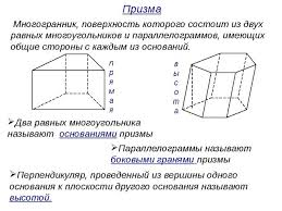 Презентация к уроку математики по теме Многогранники класс Многогранник поверхность которого состоит из двух равных многоугольников и