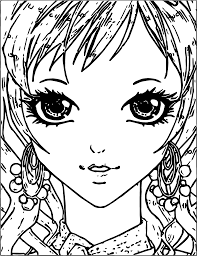 Small Picture Manga Small Girl Face Coloring Page Wecoloringpage