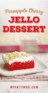 Light Fluffy Desserts Jello Cream Cheese Dessert