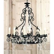 vintage french chandeliers wrought iron and crystal chandelier catania country