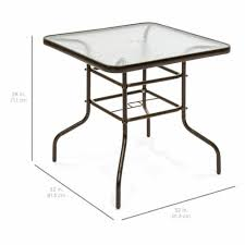 32 brown square tempered glass top