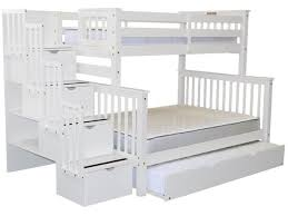 white bunk bed with stairs. Brilliant Stairs Bunk Beds Twin Over Full Stairway White With Trundle For Only 979 With Bed Stairs K