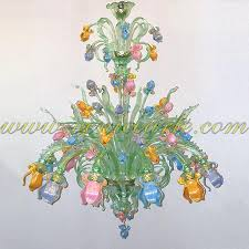 chandeliers venetian glass chandelier iris delicate green
