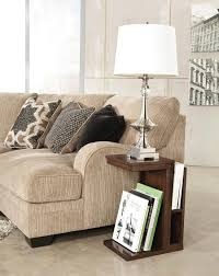 Living Room Magazine Holder Delectable Custom Magazine Rack In Creamy Living Room With Table Lamp Modern