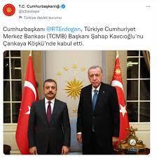 Cumhurbaşkanı Erdoğan, Merkez Bankası Başkanı Şahap Kavcıoğlu ile görüştü -  Son dakika haberleri