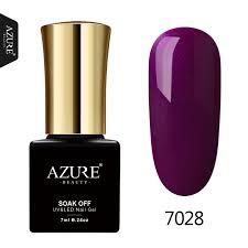 Azure Beauty Purpurová Gelová Lak Na Nehty Pro Nehty Design