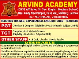 Job Post Graduate Teacher Lucknow Learning Library