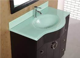 green bathroom vanity top