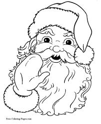 santa3 christmas coloring pages on free xmas menu templates