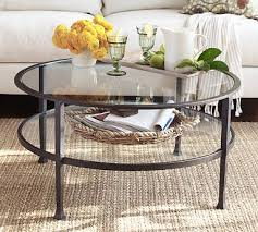 Tanner Metal U0026 Glass Round Coffee Table, Matte Iron Bronze Finish, Premium  In Home Delivery