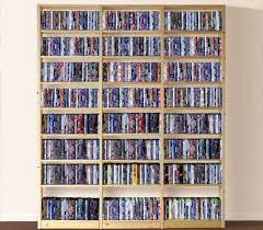 DVD / CD storage rack wall mounted unit retro style shelving