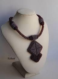 Eggplant <b>Seed Bead Pendant Necklace</b> Statement Beadwork от ...