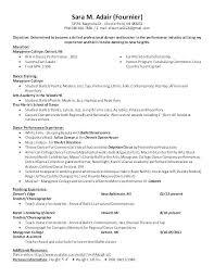 Modern Dance Resume Example Dance Resume Ballet Resume Sample New Dancer Resume Example