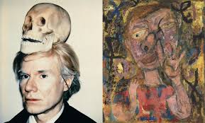 marilyn monroe by andy warhol self portrait of warhol with skull on head and the broad gave me