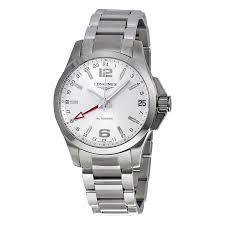 longines conquest silver dial stainless steel bracelet men s watch longines conquest silver dial stainless steel bracelet men s watch l3 687 4 76 6