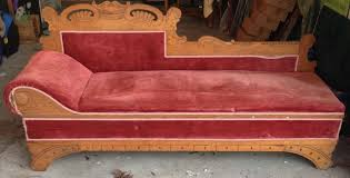 Antique 1890s Fainting Couch fold out bed too have you seen