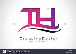 Design Th Th T H Letter Logo Design In Black Colors Creative Modern