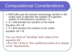 4 comtional considerations