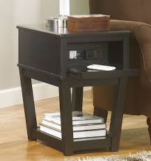 full size of end tables black painted carlisle metal chairside table with rectangle clear also