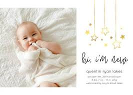 Print Baby Announcement Cards Birth Announcement Templates