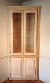built-in corner cabinet with glass shelves   Furniture & What Nots ...