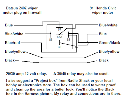 honda civic wiper motor wiring diagram honda image honda wiper motor upgrade for the 240z on honda civic wiper motor wiring diagram