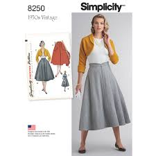 Vintage Simplicity Patterns Classy Simplicity Simplicity Pattern 48 Misses' Vintage 48's Skirt And