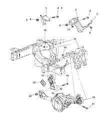 Engine mounting front for 2003 dodge ram 1500 mopar parts giant