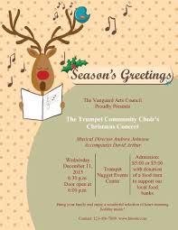 Community Concert Program Christmas Flyer Free Christmas