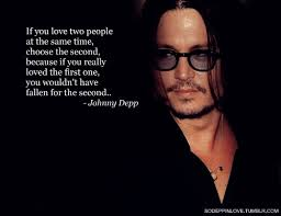 Johnny Depp Love Quotes Stunning Johnny Depp Quotes If You Love Two People On QuotesTopics